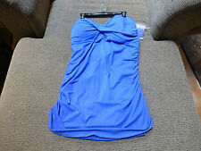 Anne Cole Signature Bathing Suit Swimsuit Size 22W NWT Bluish One-Piece