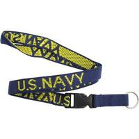 USN Navy Key Lanyard  blue with U.S. Navy in gold letters