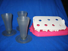Tupperware LOT Vintage Jello Jigglers, and Parfait containers