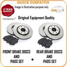 3000 FRONT AND REAR BRAKE DISCS AND PADS FOR CHRYSLER SEBRING 2.7 V6 4/2008-12/2
