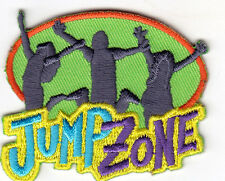 """""""JUMP ZONE"""" - GAMES - SPORTS - CHILDREN - FUN - Iron On Embroidered Patch"""