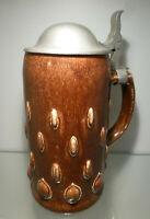 Jugendstil Bierkrug 1,0 Liter, Merkelbach Modellnr. 2314, Paul Wynand 1911