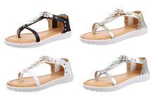 Markenlose Normale-Weite-(E) Damen-Sandalen & -Badeschuhe aus Kunstleder für Freizeit