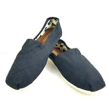Toms Classic Mens Canvas Flat Shoes Black Size 10