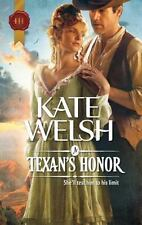 A Texan's Honor, Welsh, Kate, 0373296878, Book, Acceptable