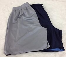 2 Pair  Finish Line Shorts Reversible Size XL FINL 365 Gray Black Navy and Blue