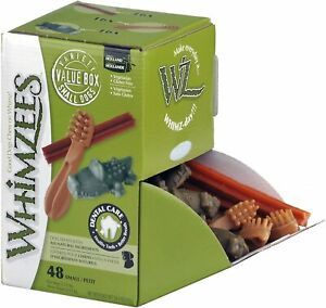 Whimzees Variey Box Small - 48 pack Natural Dental Treat Chew