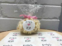 Baby shower stickers, ready to pop round stickers for baby shower popcorn favour
