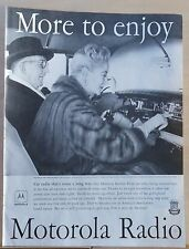 1958 magazine ad for Motorola Car Radio - Golden Voice GV800 & society couple