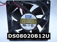 AVC DS08020B12U Double ball large air volume fan DC12V 0.60A 80*80*20MM 2pin