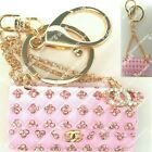 Rhinestone Crystal Pink Purse Handbag Purse Charms Keychains Accessories lot