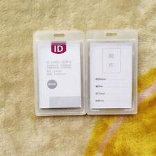 Nice Durable Hard Plastic ID Card Badge Holder Employee Name Tag Waterproof