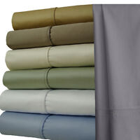 Olympic-Queen 4-PC Solid 1000 Thread Count luxury 100% Cotton Sheet Sets