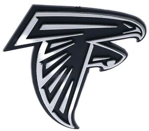 Atlanta Falcons NFL Car Truck Automotive Grill Emblem Chrome Finish F3D14G