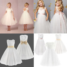 Flower Girls Formal Pageant Wedding Tulle Lace Dresses Bridesmaid Party Dress
