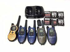 Lot Of 5 Motorola TalkAbout 2-Way Radio w/ Batteries & Charging Cradle