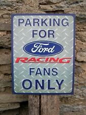 New Ford Racing Parking Metal Vintage Style Tin Sign Garage Man Cave Auto Car