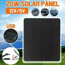 12V 20W Solar Panel Trickle Battery Charger Power Supply Boat Car Outside