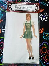 """New Celebrity Paper Dolls Jeanette MacDonald 9"""" Doll 5 Costumes & 4 Hats"""