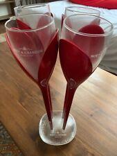 Moet & Chandon Red Rose Champagne Flutes Set Of 4