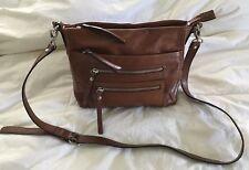 TANO Tan Brown Leather Crossbody Purse Bag Messenger-VERY NICE