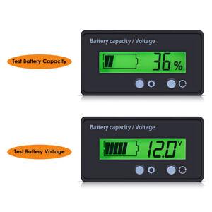 12v-48V Battery Charge LCD Digital Indicator Monitor waterproof Meter Gauge