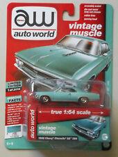 1966 Chevrolet Chevelle SS Artesian Turquoise AUTO WORLD DIE-CAST 1:64 CAR