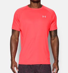 Under Armour UA Men's HeatGear Run Short Sleeve T-Shirt - Orange - New