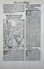 NARRENSCHIFF HOLZSCHNITT VON AUSLÄNDISCHEN NARREN 1520 GEILER KAISERSBERG #16
