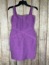 Herve Leger Dress Contrast Bodycon Purple Bandage Spaghetti Strap A454 **S