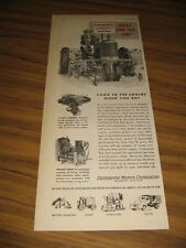 1949 Print Ad Continental Red Seal Engines Lady Drives Tractor Muskegon,MI