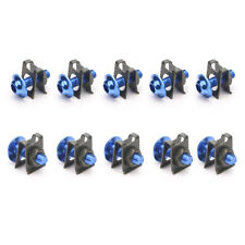 10Pcs Motorcycle M6 6mm Fairing Bolts Spire Speed Fastener Clip Screw Nut Blue