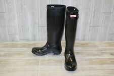 Hunter Original Tall Gloss Rain Boot, Women's Size 8, Black
