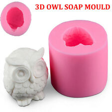 3D OWL Soap Mould Candle Melt Hand Craft Silicone Cake Fondant Chocolate Mold