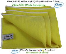 Vikan Microfibre Cloths High Quality Yellow Microfiber Towels Cleaning Cloth x 5