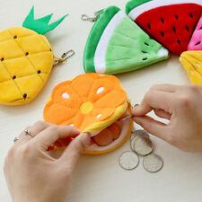 Frauen-Frucht-Münzen-Telefon-Beutel-Geldbörsen-Reißverschluss-Plüsch 10cm Hot DE