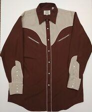 Eamor's Saddlery Vintage Western Long Sleeve Button Shirt Men's Size Xl