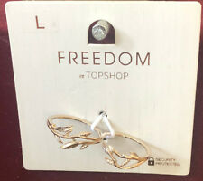 TOPSHOP Freedom New Large Double Finger Gold Ring Jewellery RRP £8.50