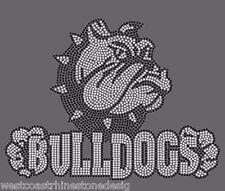 Bulldogs #44 Rhinestone Iron on Transfer          761M