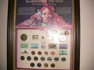US, The History of the West in coins and stamps (framed)