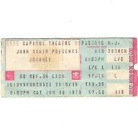 JOURNEY & STARCASTLE Concert Ticket Stub PASSAIC NJ 6/10/78 INFINITY TOUR Rare