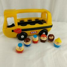 Little Tikes School Bus W/ Toddle Tots Vintage Little Tykes Toy With Figures