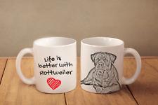 """Sain Bernard - ceramic cup, mug """"Life is better"""", Ca"""