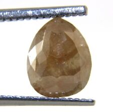 2.21Cts Rose Cut Diamond Natural Pear Shape Gray Color 9.52x7.72x3.30 MM