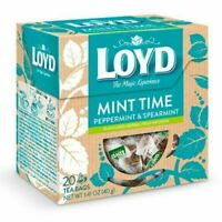 LOYD MINT TIME Peppermint & Spearmint Flavor Herbal-Fruit Tea 20 Pyramids Box
