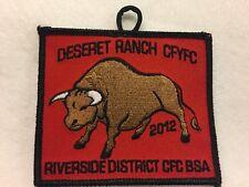 "Boy Scouts - 2012 Central Florida Council - Deseret Ranch ""Bull"" patch"