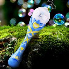 Magic Wand Blow Bubbles Electronic Automative Flashing Light Up Music Creative