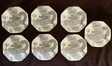Set 7 Mikasa Bone China Mythology Onyx Dragon Plates Game Of Thrones, D&D Theme