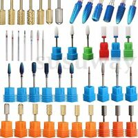 Eléctrico Carburo Taladro Broca Pulido de Uñas Manicura Pedicura Nail Drill Bits