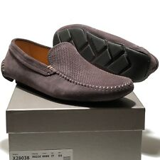 NEW Armani Grey 7 40 Mens Driver's Suede Leather Moccasin Casual Loafers Fashion
